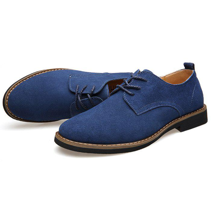 Outfits MUHUISEN Autumn Men's Casual Shoes Suede Leather Men's Shoes Round Head Trend Shoes