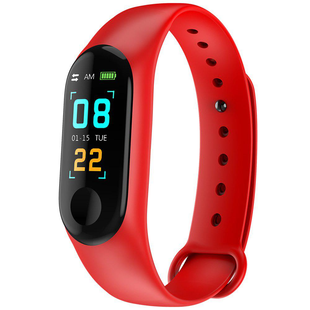 Affordable M3PLUS 0.96 inches Smart Bracelet Bluetooth 4.0 Heart Rate Monitoring Blood Pressure Functions