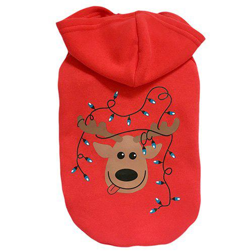 Discount A83 Christmas Pet Dog Teddy Hoodie