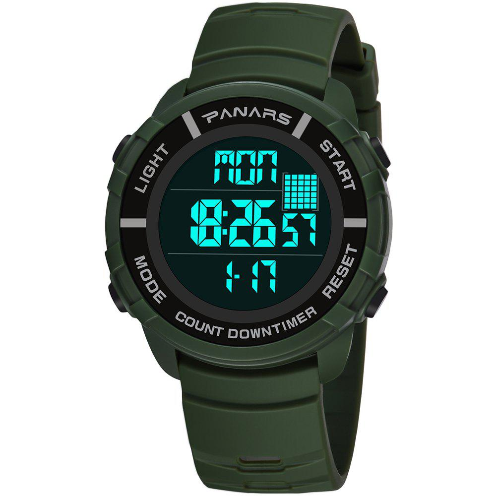 Outfits PANARS 8103 Alarm Multi-function 50 Meters Swimming Waterproof Luminous Outdoor Sports Electronic Men Watch with Box