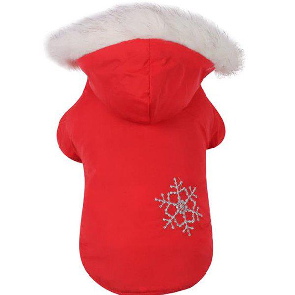 Outfit Winter Pet Dog Snowflake Brush Double-sided Wear Detachable Hat Cotton Coat