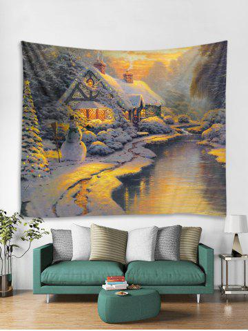 94f88ee484b Christmas House River Print Tapestry Wall Hanging Decoration