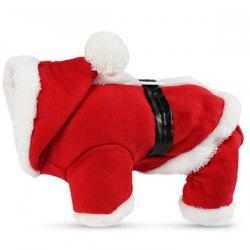 Pet Dog Christmas Double Layer Plus Velvet Jumpsuit -