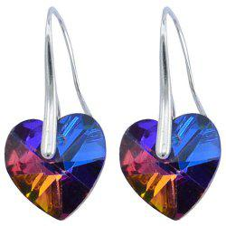Korean Jewelry Austrian Crystal Ocean Heart-shaped Crystal Zircon Earrings -