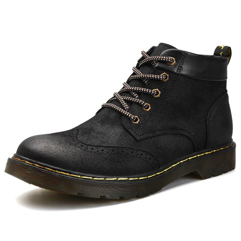 Store Men Comfortable High-top Boots Classic Lace-up Shoes