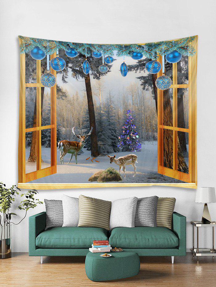 Shops Window Christmas Forest Print Tapestry Wall Hanging Decoration