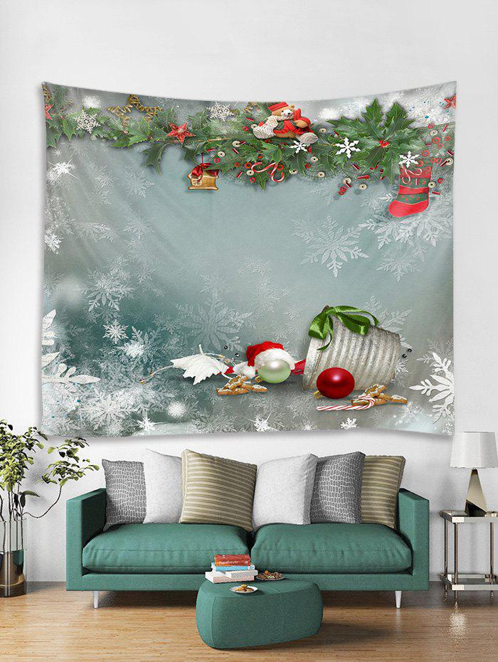 Discount Christmas Theme Print Tapestry Wall Hanging Decor