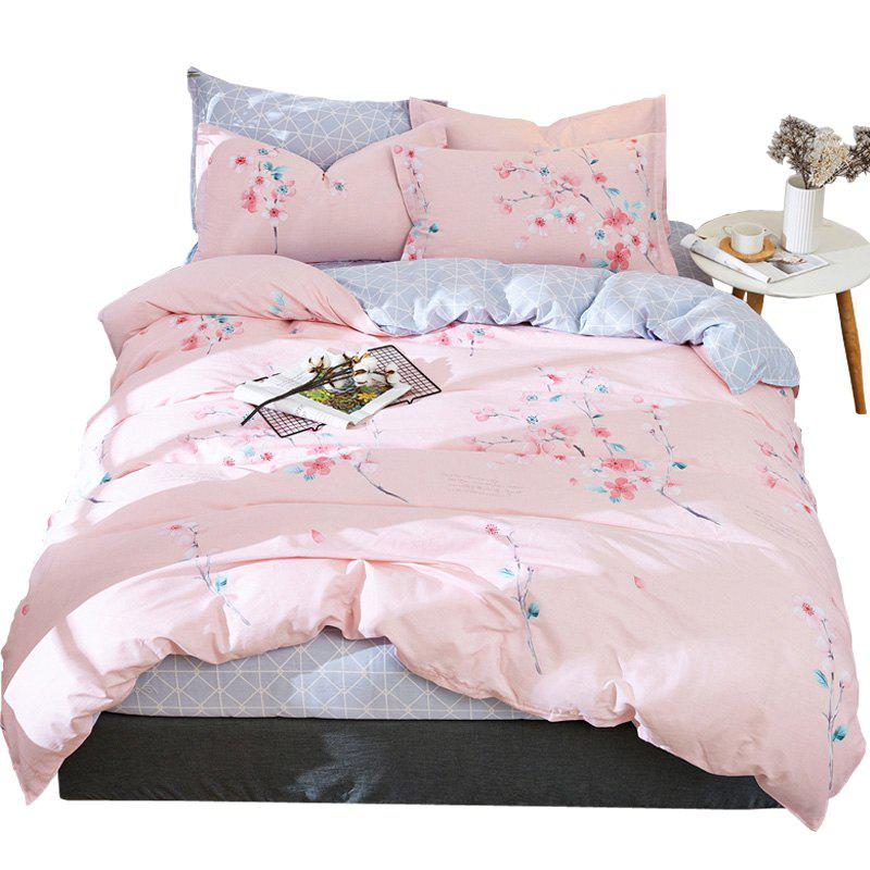 Hot Home Textile Combed Cotton Set High-density Comfort Kit Elegant Pastoral Wind Quilt Cover Sheet Pillowslip