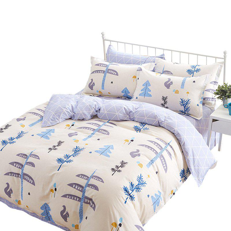 Hot Home Textile Combed Cotton High-density Comfort Kit Sheet Quilt Pillowcase