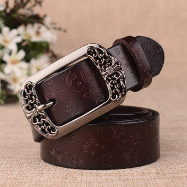 Pin Buckle Retro Casual Decorative Leather Belt for Women