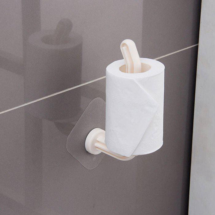 New Static Non-marking Roll Paper Holder Simple Bathroom Reel Free Nail-free Perforated Paper Towel Holder