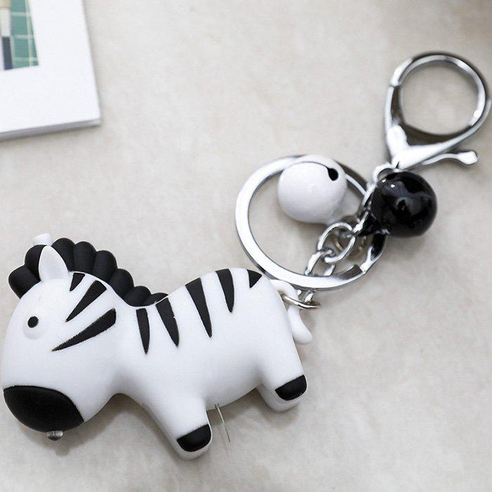 Cartoon Zebra Vocal Light Keychain LED Sound Key Chain