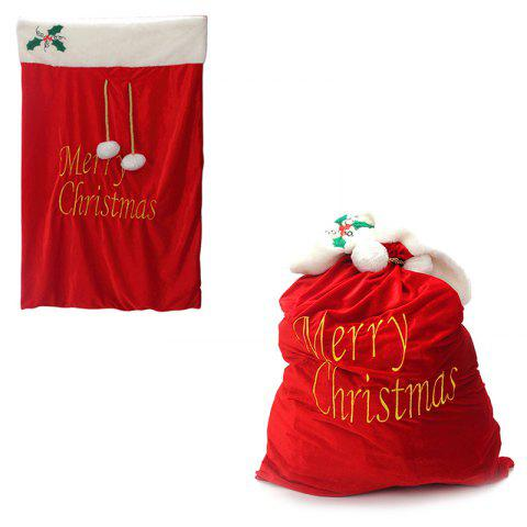 3 - T3447 Red Silk Embroidered Christmas Velvet Bag #silk