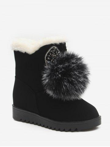 Rabbit Fuzzy Ball Plush Snow Boots