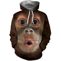 Men New Fashion Casual Monkey Face 3D Printed Hoodie -
