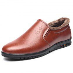 Casual Men's Warm Low-cut Leather Shoes -
