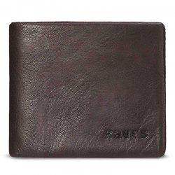 Men Short Section Leather Cross Section Wallet -