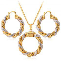 PE683 Color Ring Necklace Earrings -