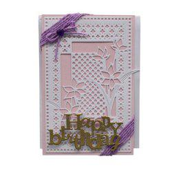 BD1063 Silver Carbon Steel Cutting Die for Hollow Square Greeting Card -