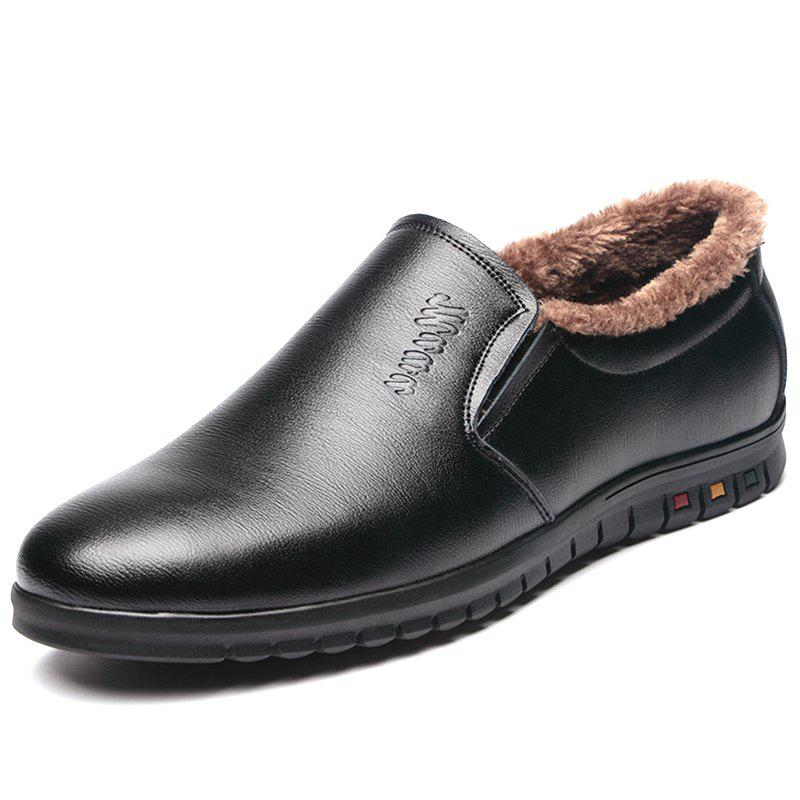 Hot Casual Men's Warm Low-cut Leather Shoes