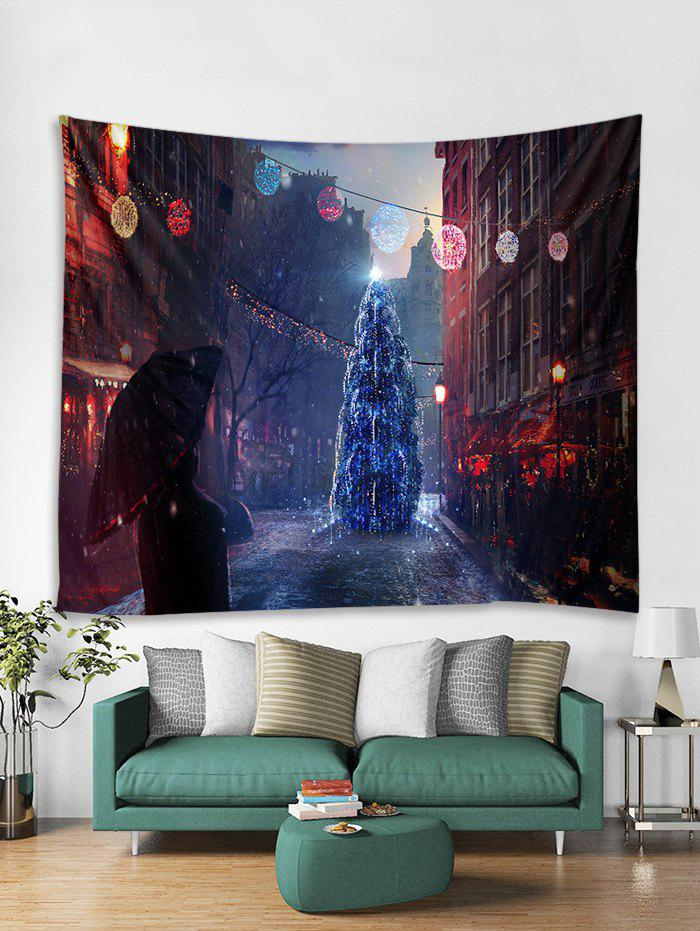 Hot Christmas Tree Street Print Tapestry Wall Hanging Decoration