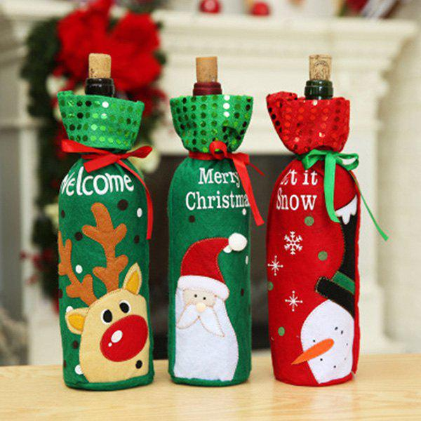 Santa Claus Red Wine Bottle Set Champagne Gift Bag