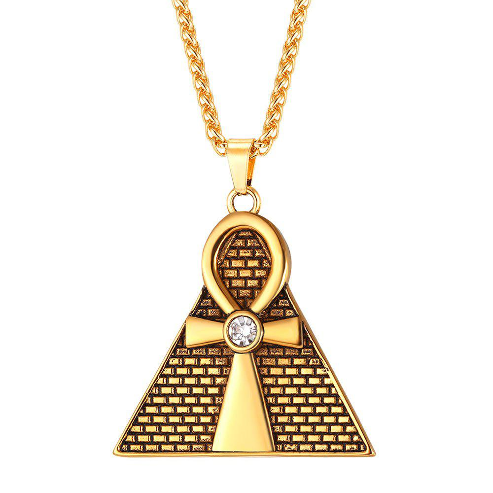 Latest GP2571 Stainless Steel Triangle Egyptian Pendant Necklace