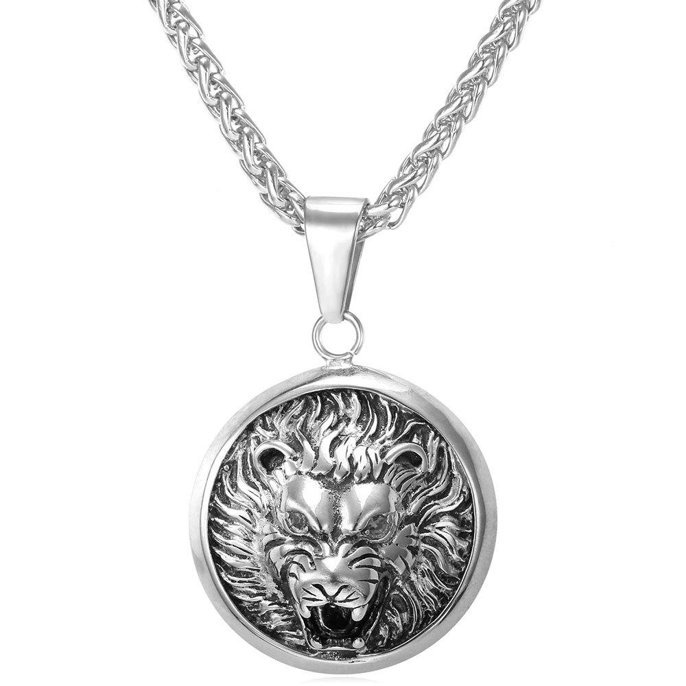 Shop GP1875 Stainless Steel Wolf Head Pendant Necklace