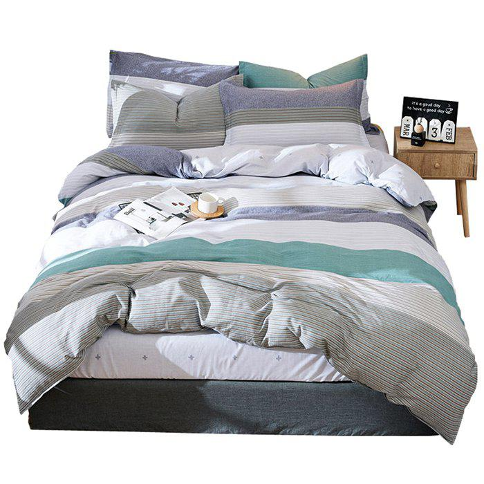 Affordable Free Elements Textile Combed Cotton Four-piece Cotton Sheets Quilt Cover for Twill Active Printing And Dyeing Bed Products