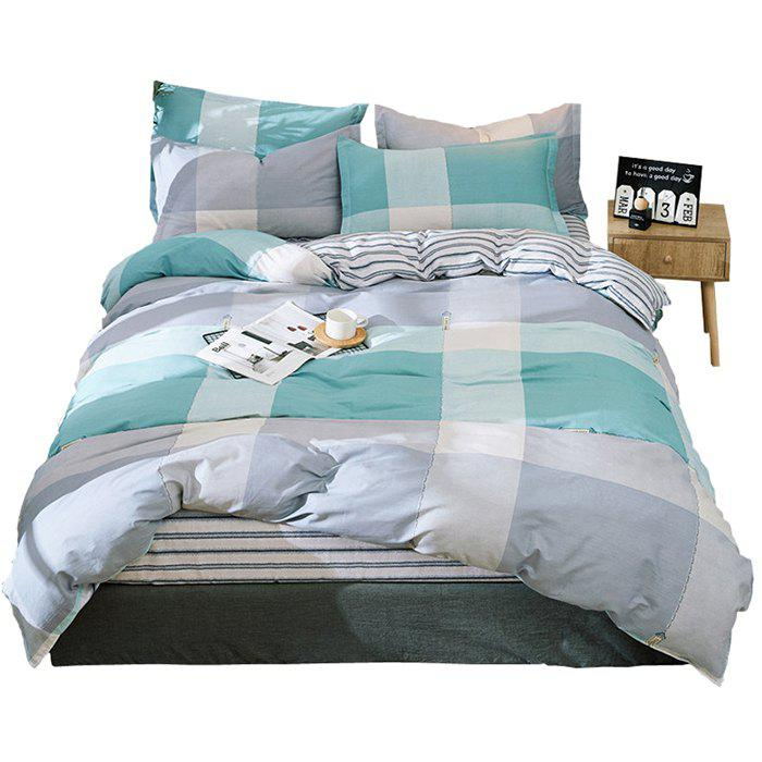 Affordable Home Textile Combed Cotton Four Piece Bed Sheet Quilt Cover