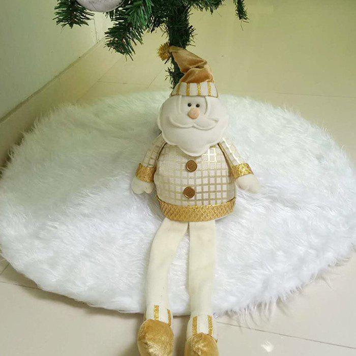 Chic Pure White Long Hair Christmas Tree Skirt for Hotel Shopping Mall Home Christmas Decoration