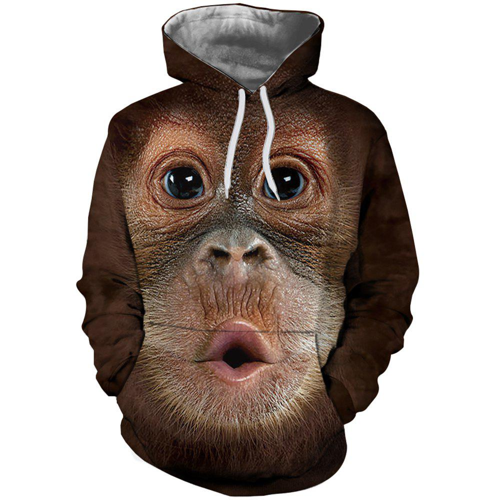 Fashion Men New Fashion Casual Monkey Face 3D Printed Hoodie
