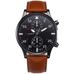 Fashion Leather Band Men Sports Clock Analog Quartz Wrist Watches -