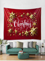 Merry Christmas Star Pattern Tapestry Art Decoration -