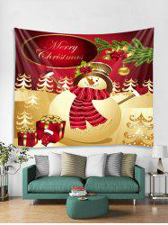 Christmas Snowman Gift Pattern Tapestry Art Decoration -
