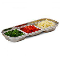 Stainless Steel 3 Grid Sauce Dish Small Dish -