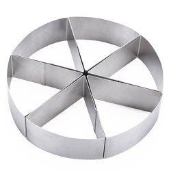6-part Circular Mousse Ring Cake Mold Baking Tool Bread Pizza Stainless Steel Cake Mold -