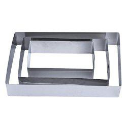 Baking Tools DIY Rectangular Stainless Steel Cake Mold Three-Piece Cookie Mould -