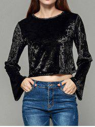 Women Slim Slimming Long-sleeved Short Crop Top Sexy Shirt -