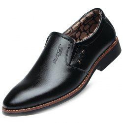 Male Fleece Interior Warm Leather Shoes -
