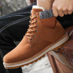 Winter Men Snow Boots Martin Boots Plus Velvet Cotton Shoes -