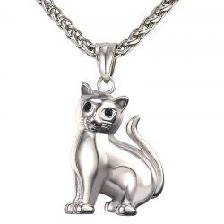 GP2417 Stainless Steel Cat Pendant Necklace -