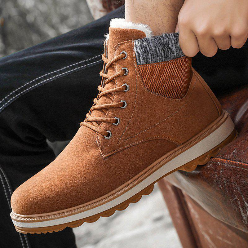 Trendy Winter Men Snow Boots Martin Boots Plus Velvet Cotton Shoes