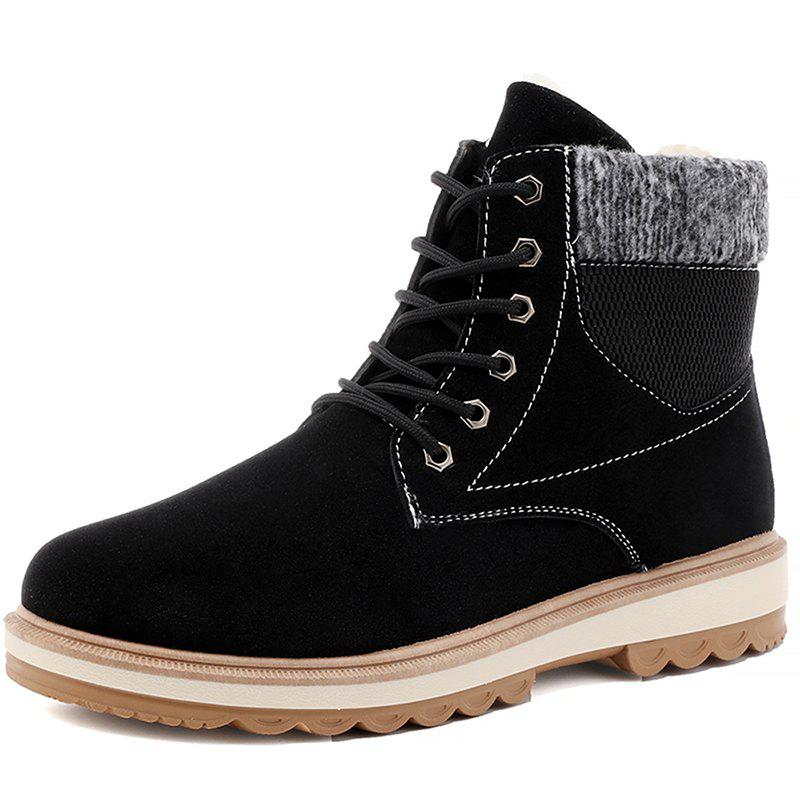 Fashion Winter Men Snow Boots Martin Boots Plus Velvet Cotton Shoes