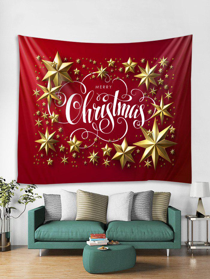Discount Merry Christmas Star Pattern Tapestry Art Decoration