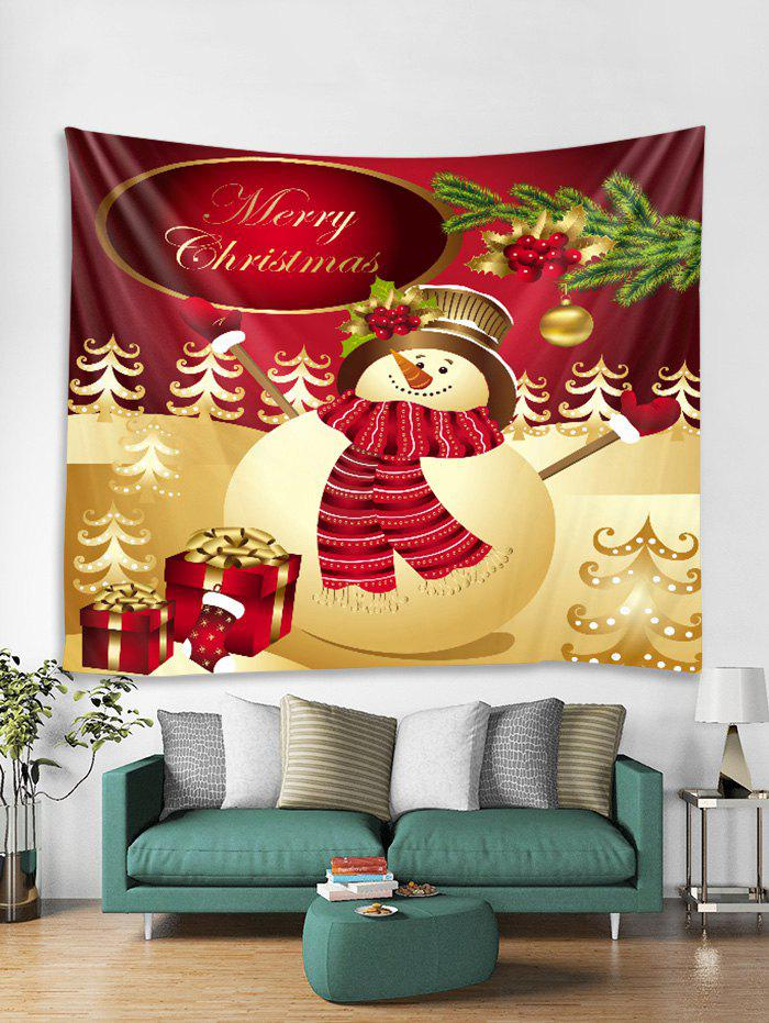 Hot Christmas Snowman Gift Pattern Tapestry Art Decoration