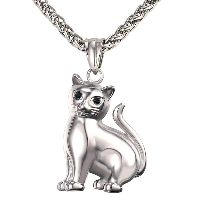 Outfits GP2417 Stainless Steel Cat Pendant Necklace