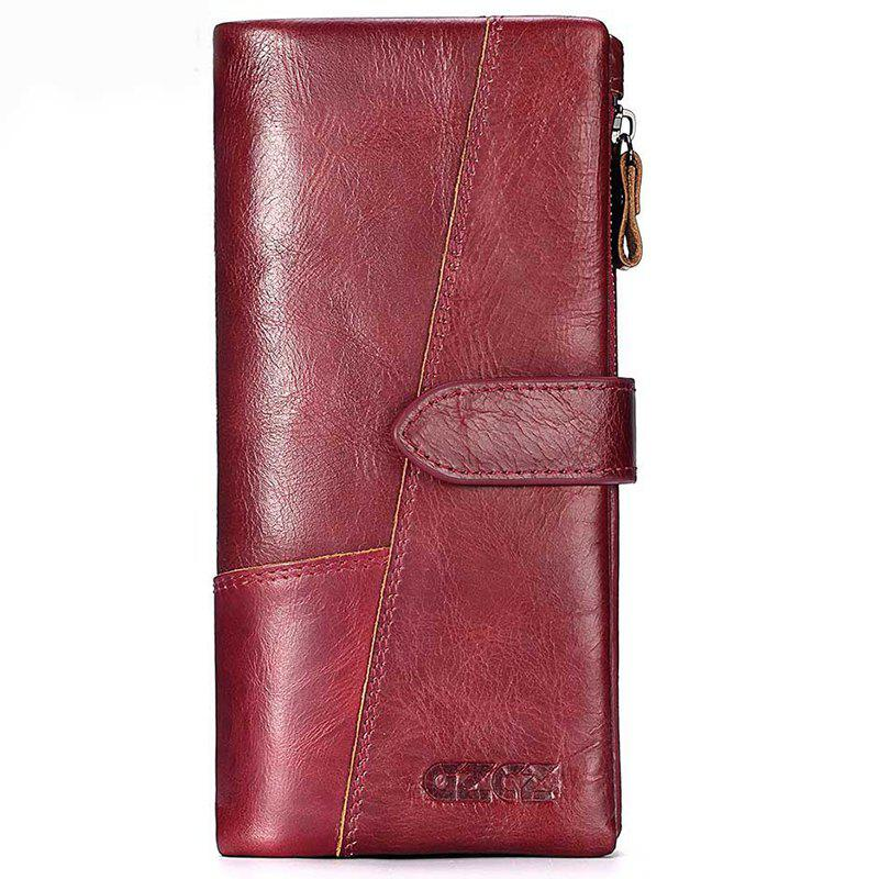 Outfit Leather Long Multi-function Men Casual Wallet