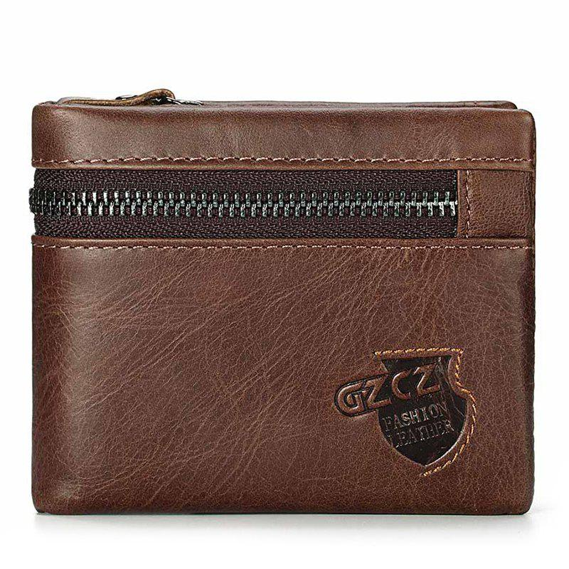 Outfits Men Short Retro Leather Coin Pockets Wallet