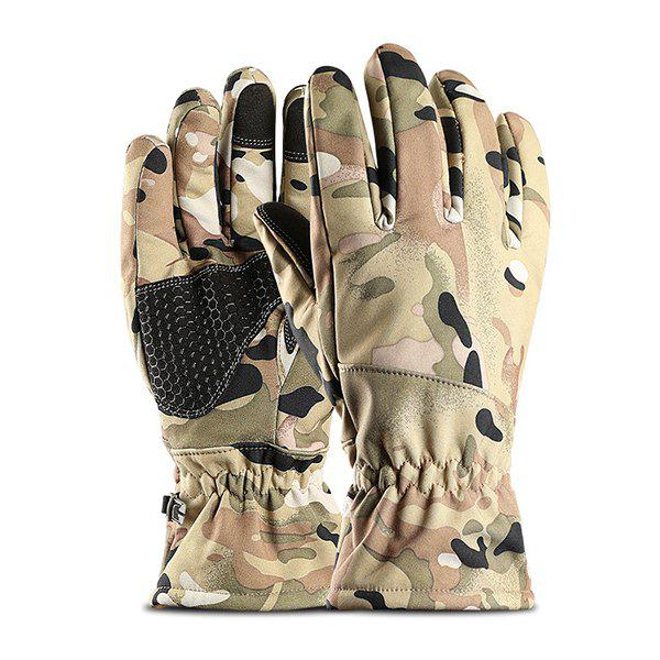 Shop Outdoor Sports Waterproof  Windproof Warm Plus Velvet Thick Touch Screen Riding Full Finger Gloves